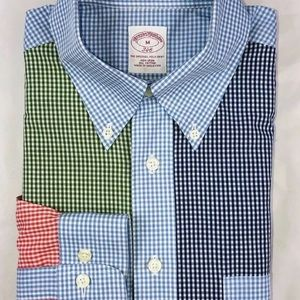 Brooks Brothers Colorblock Plaid Size M Non Iron